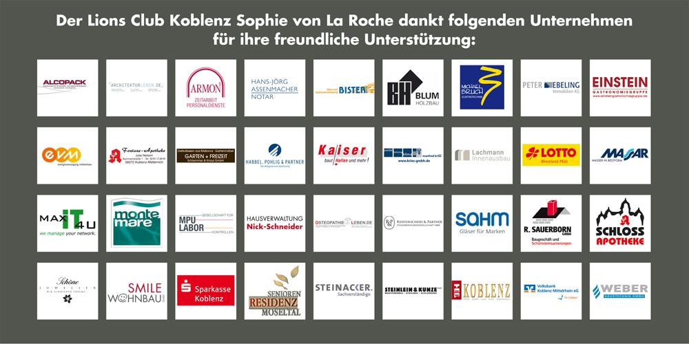 Lions Club Sophie von La Roche Koblenz - Sponsoren