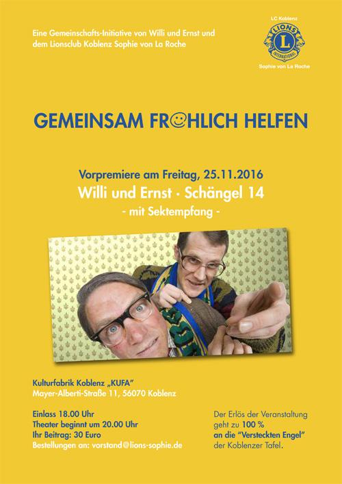 Vorpremiere Willi & Ernst Schängel 14 am 25.11.2016